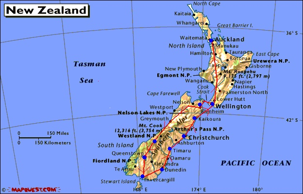 New Zeland Carte Ville
